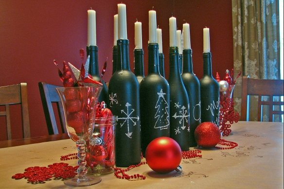 Christmas Wine party tablescape