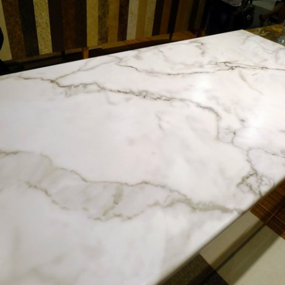 Faux White Carrara Marble