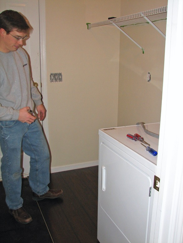 Laundry Room Floor Installation