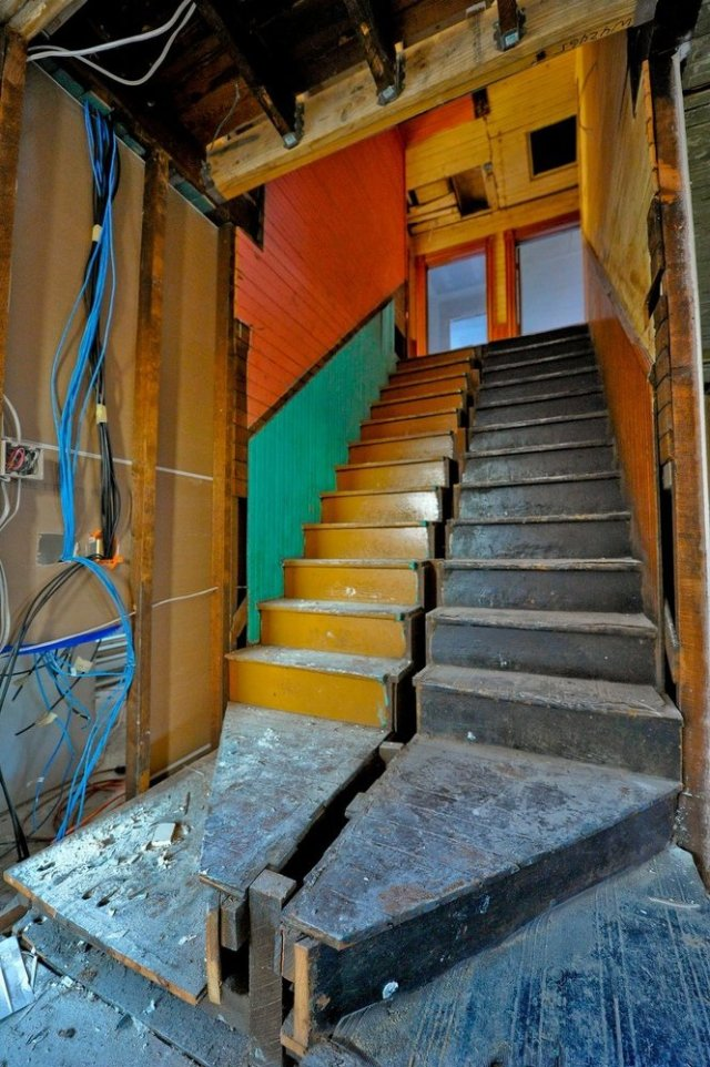 Merrimack Renovation stairs
