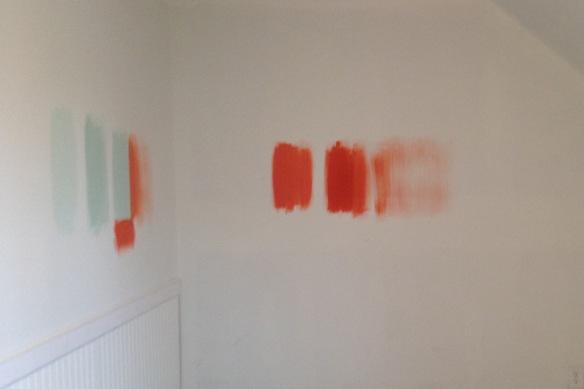 Nursery paint samples