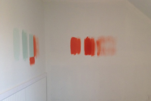 Nursery paint samples