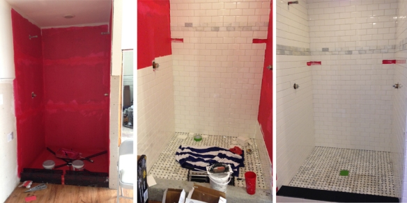 master bath shower progress